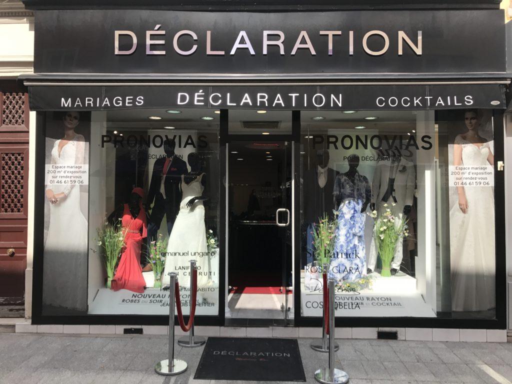 Showroom Déclaration Mariage - Robes de marié