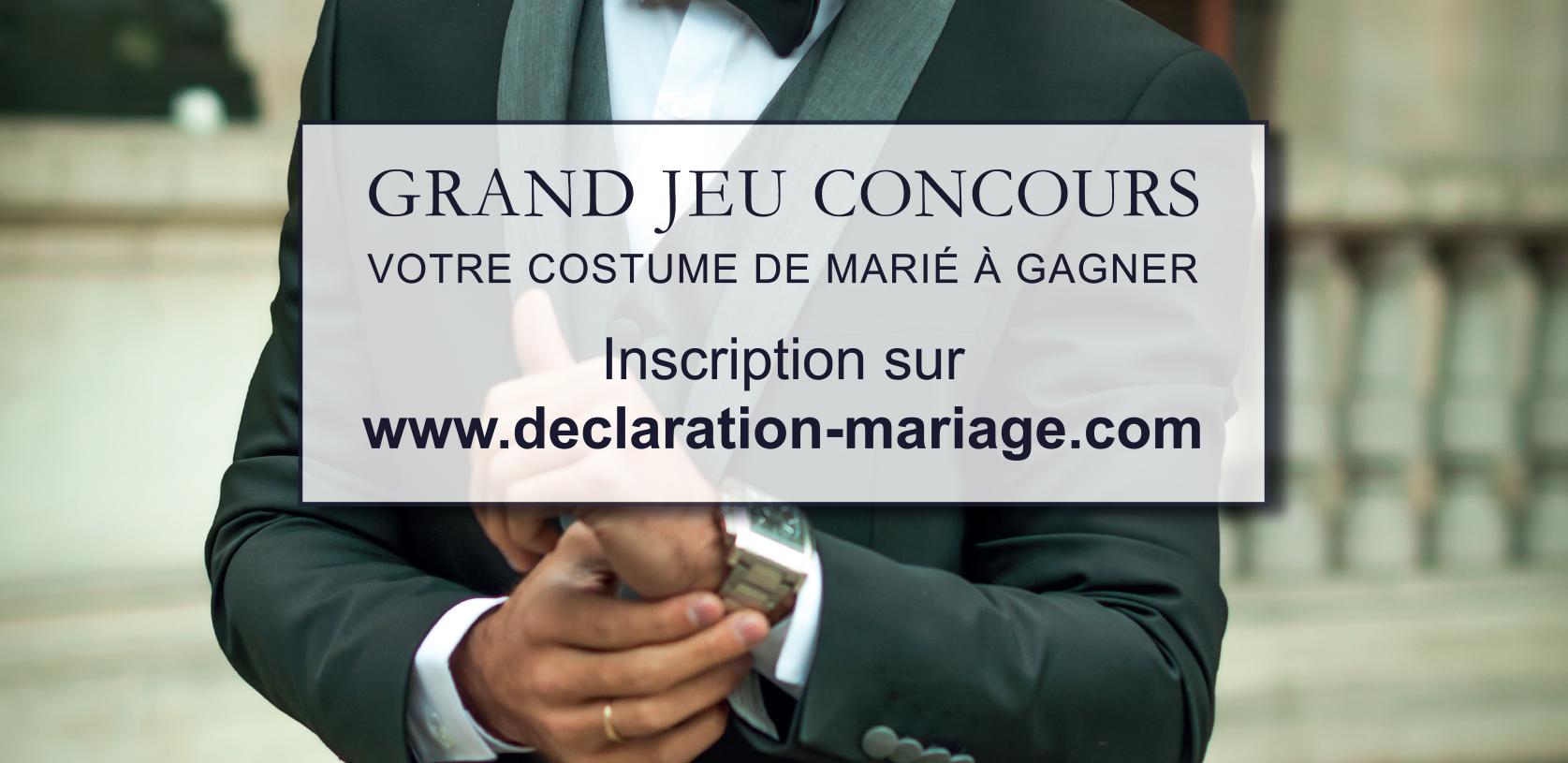Jeu Concours Declaration Mariage Votre Costume De Marie A Gagner
