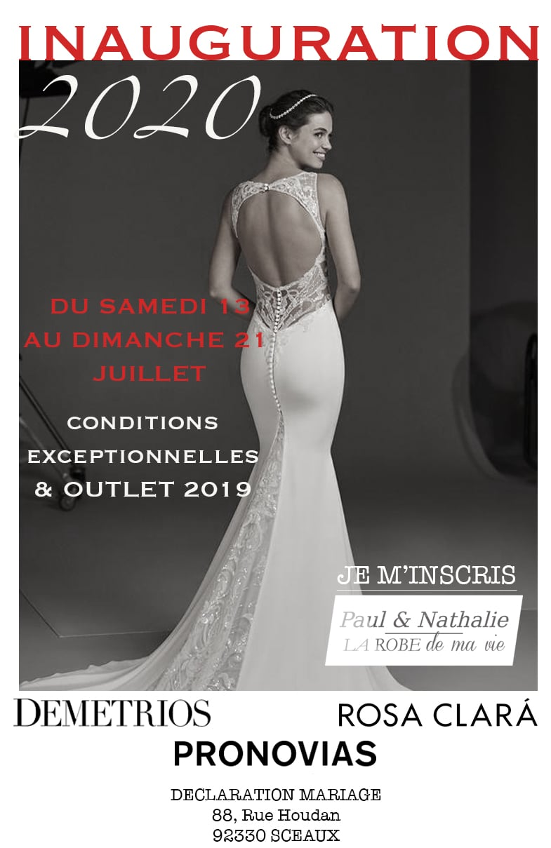 Inauguration 2020 Showroom Déclaration Mariage Paris